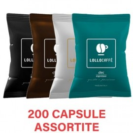 200 Capsule LolloCaffè Point assortite Compatibili Lavazza Espresso Point